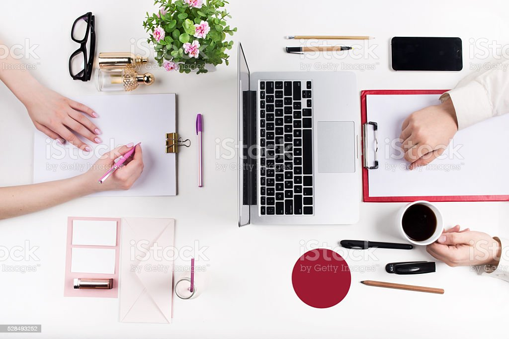 Workplace at the office. Technology stock photo