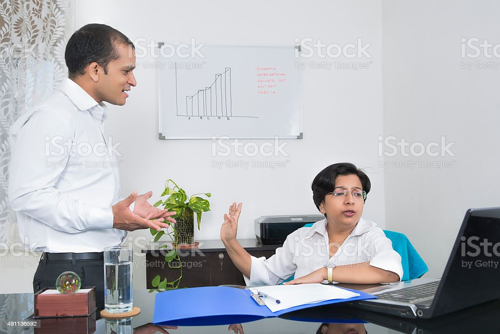 Workplace conflict stock photo
