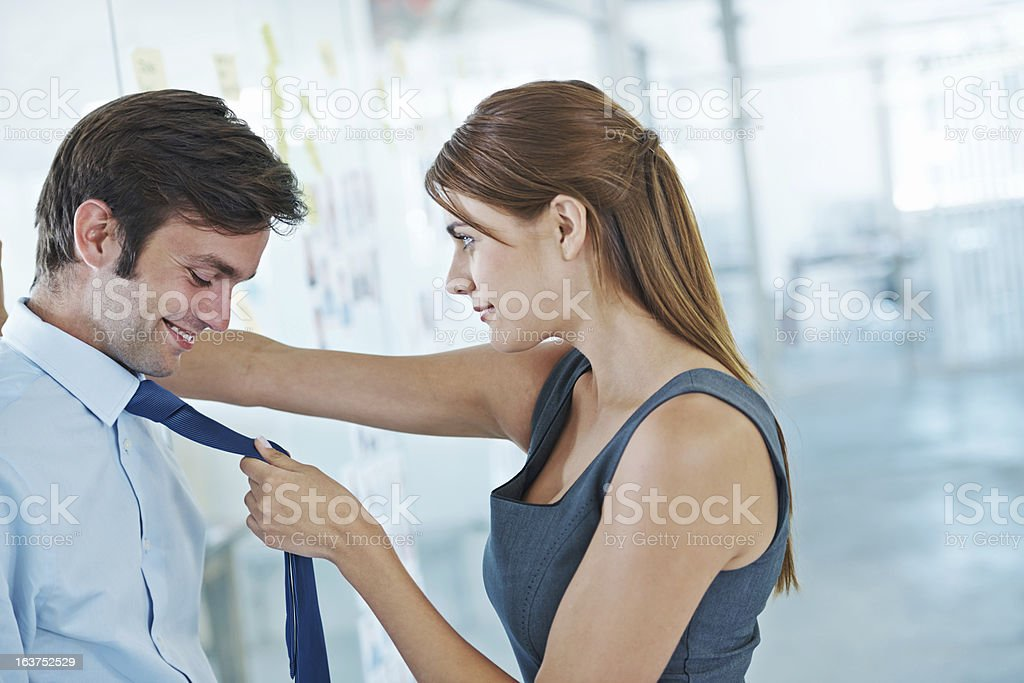 Workplace flirtations stock photo