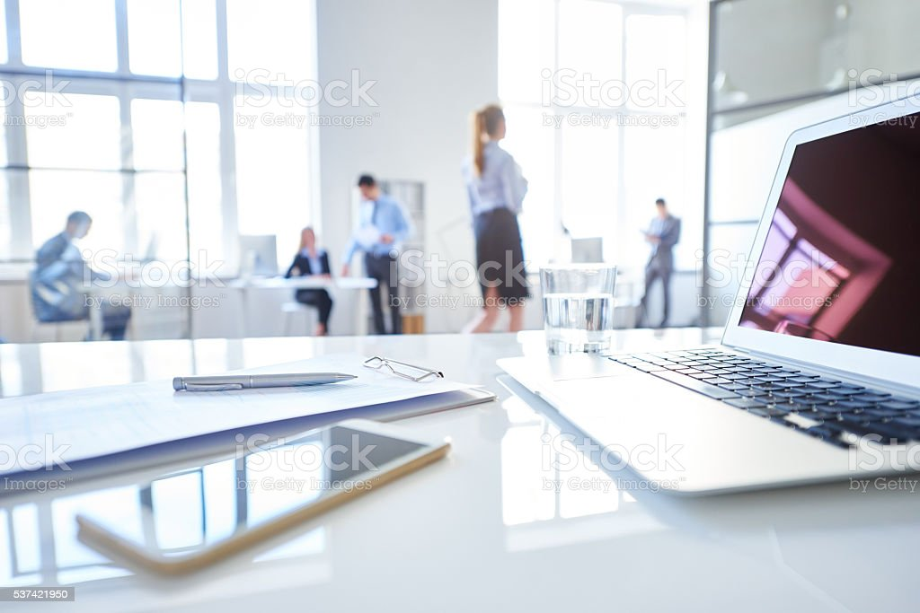 Workplace for leading business stock photo