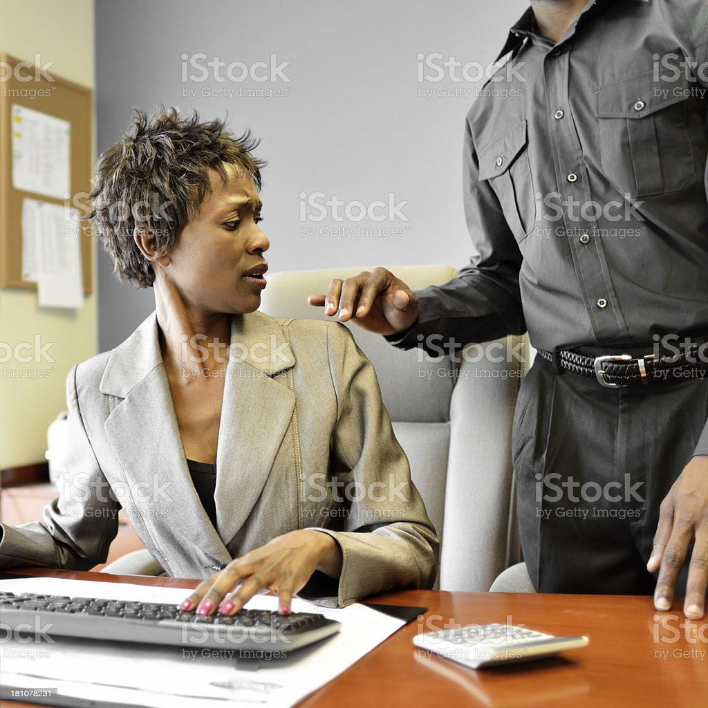 Workplace harassment stock photo