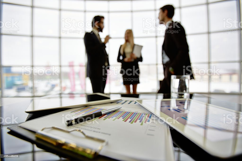 Workplace in office stock photo