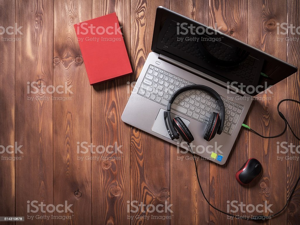 Workplace in the office stock photo