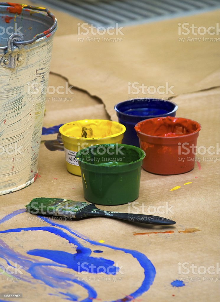 work-place of artist royalty-free stock photo