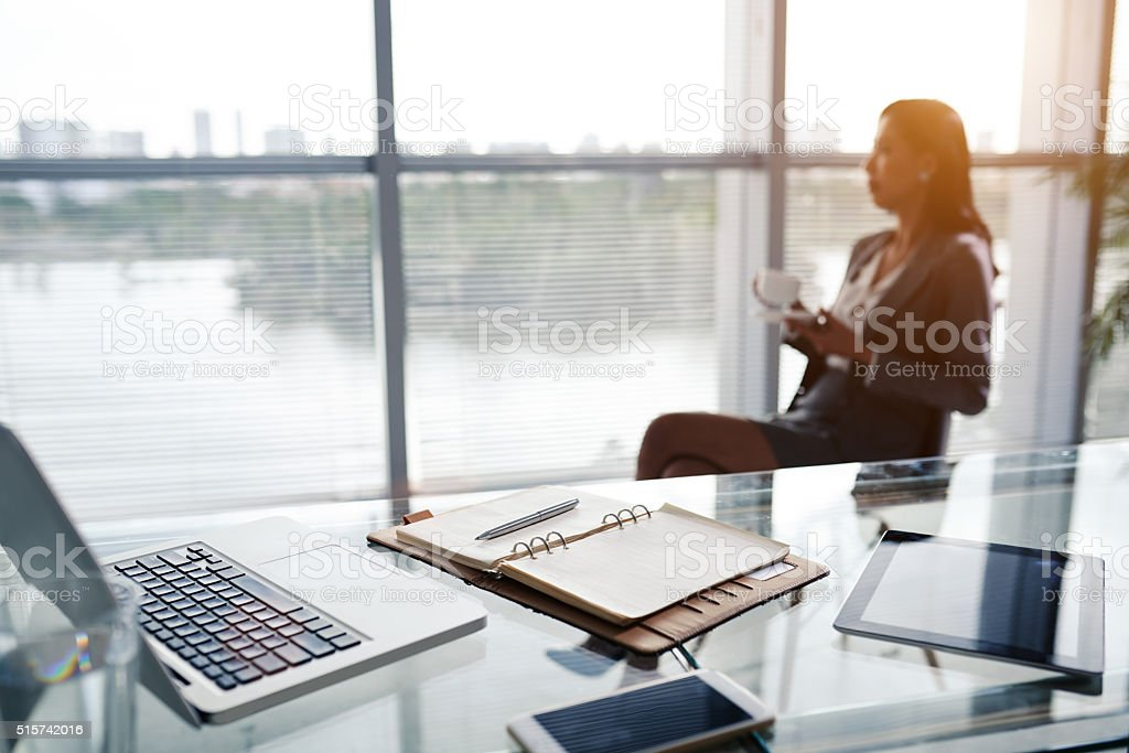Workplace of business executive stock photo