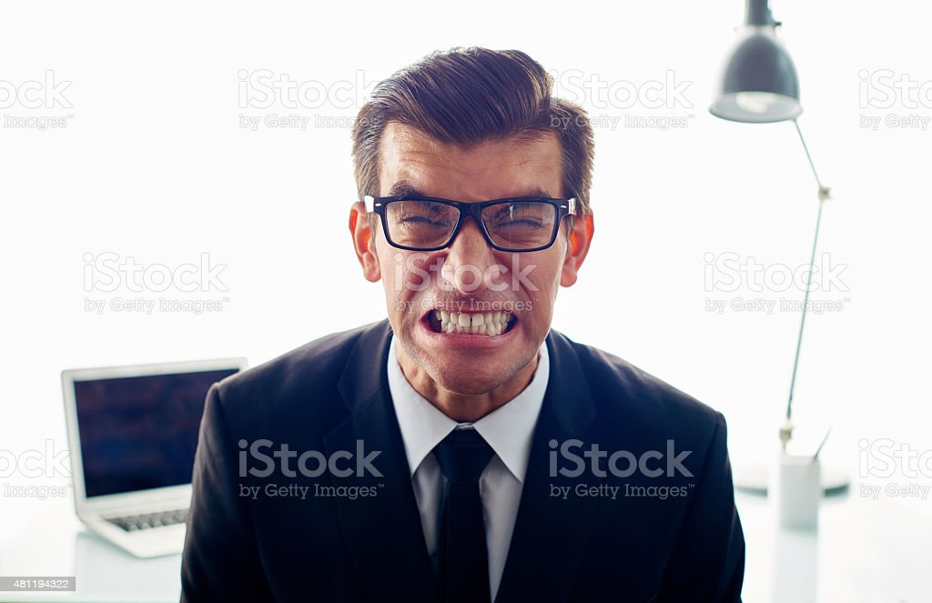 Workplace stress stock photo