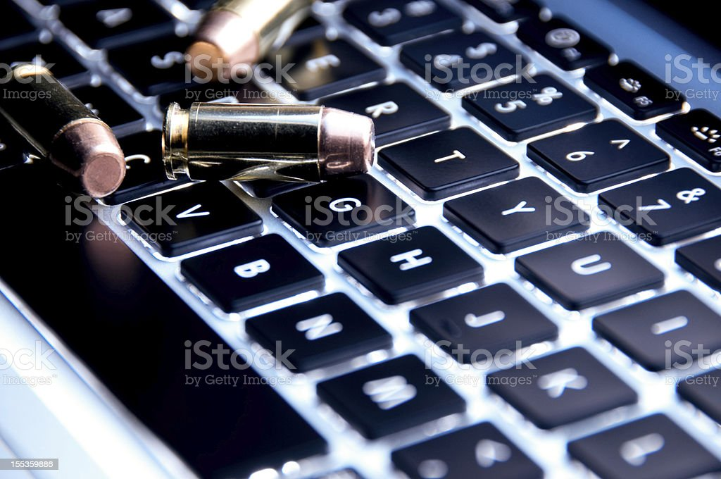 Workplace violence concept stock photo