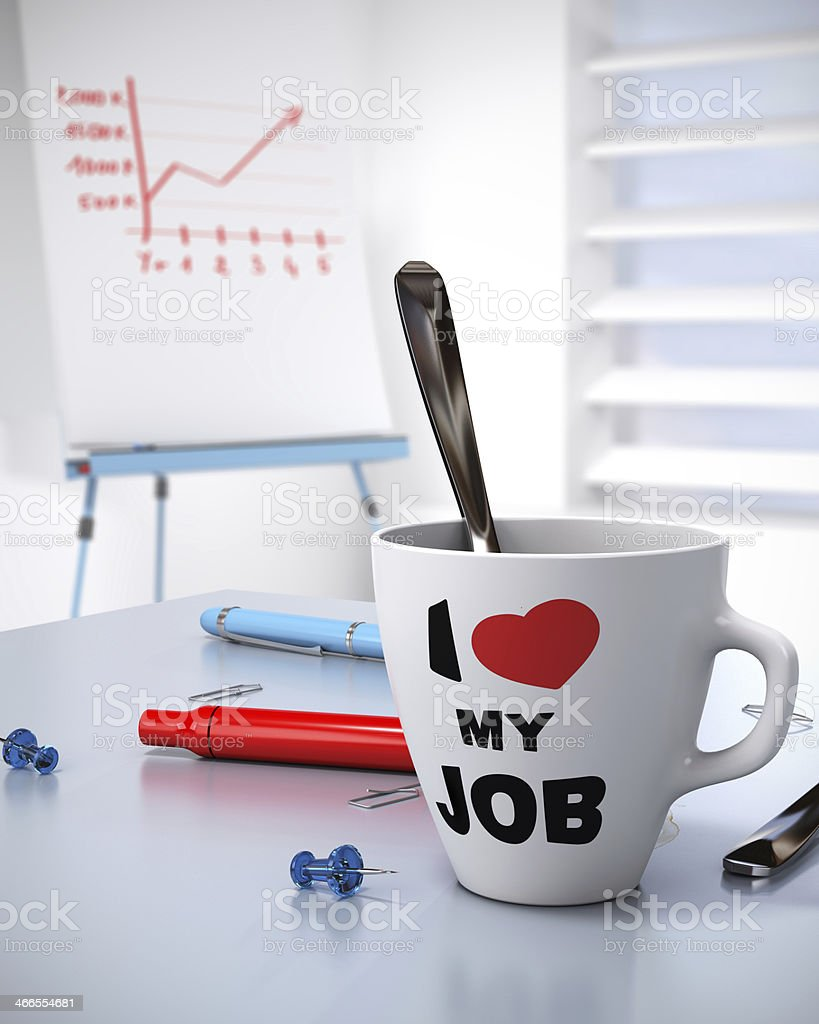 Workplace Wellbeing and Business Performance Concept stock photo