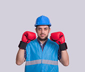 Workrt with boxing gloves