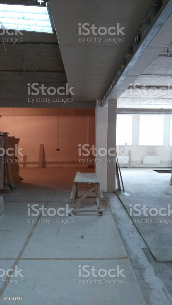 Works Building Finishing Office stock photo