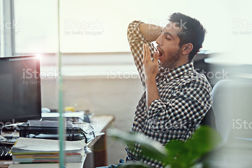 Work's really taking it's toll stock photo
