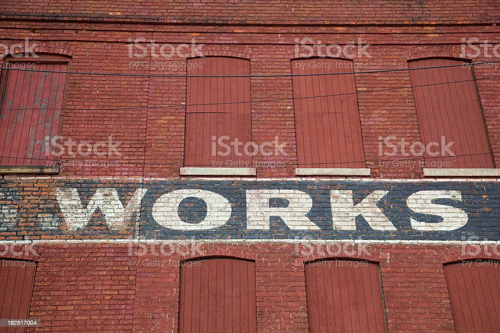 Works Wall stock photo