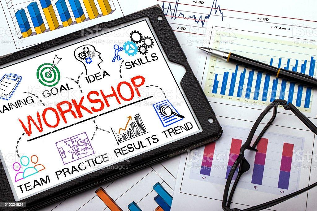 workshop concept stock photo
