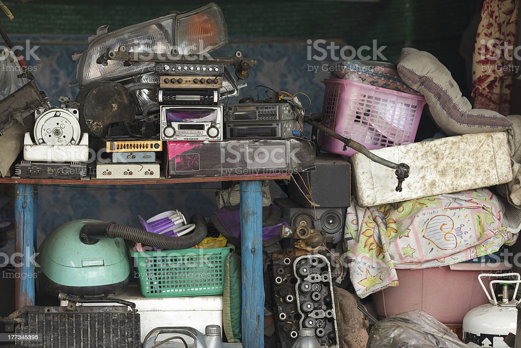 workshop mess stock photo