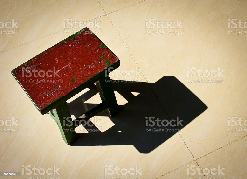 Workshop stool stock photo