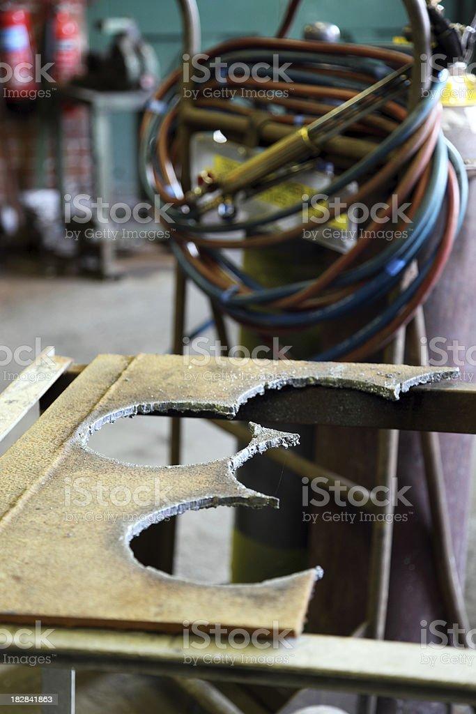 workshop welding work stock photo
