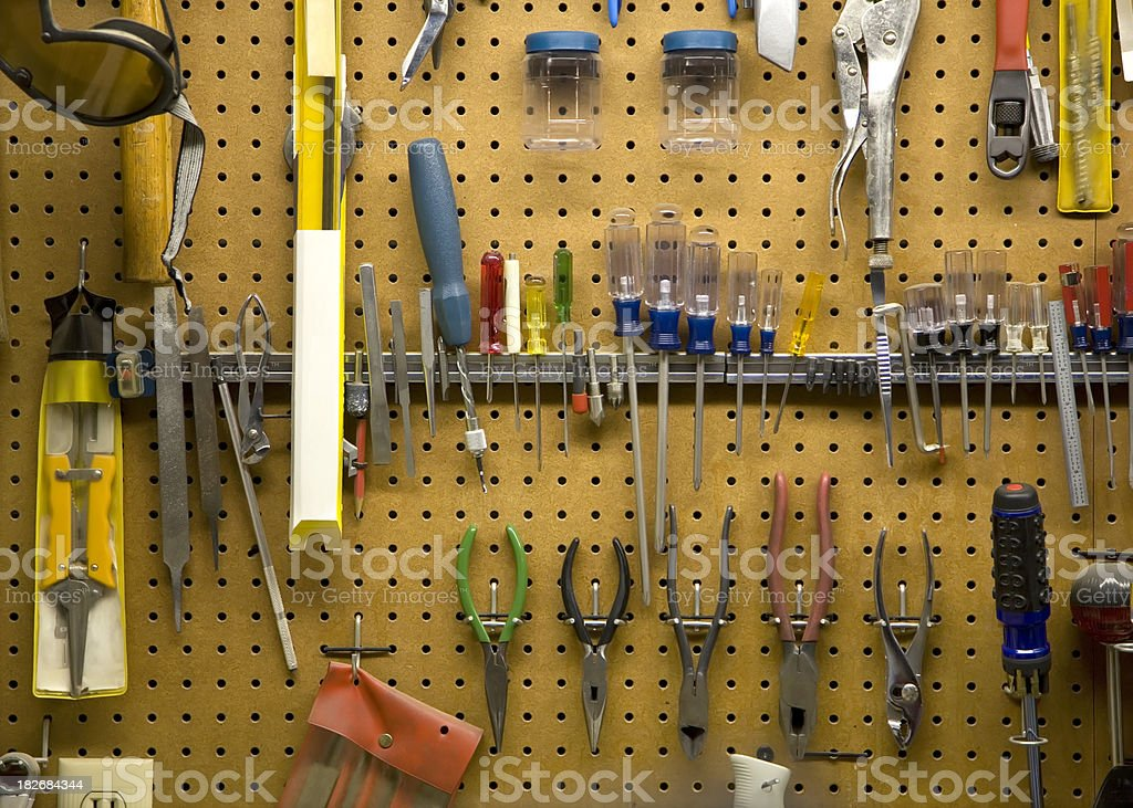 Workshop with Tools royalty-free stock photo