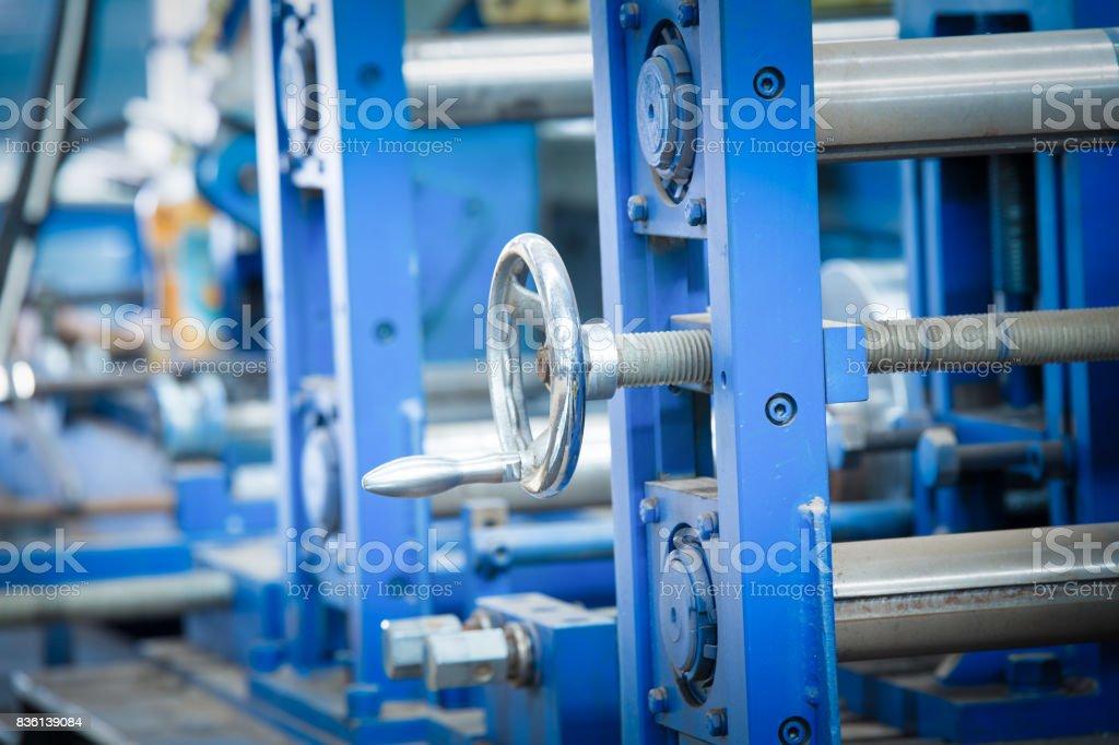 Workshop,Large steel processing plant stock photo