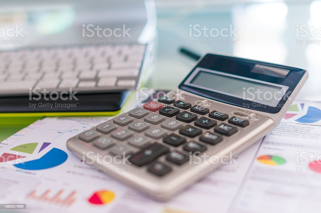 Workspace for professional in office stock photo