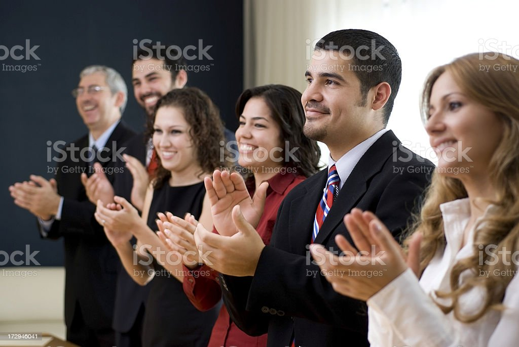 Workteam enjoying success royalty-free stock photo