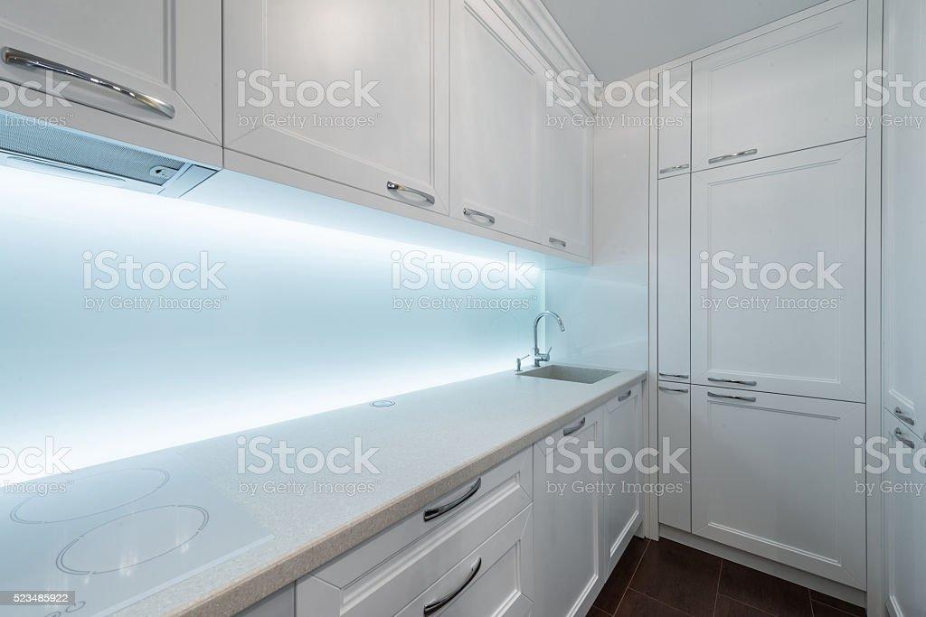Worktop in modern kitchen stock photo