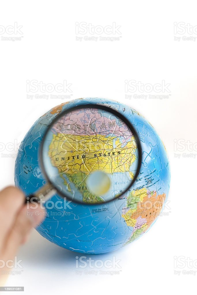 World 3D Puzzle (USA) royalty-free stock photo