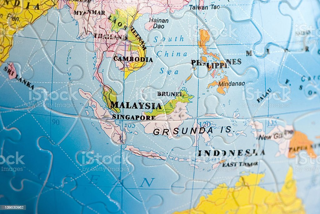 World 3D Puzzle: South-East Asia stock photo