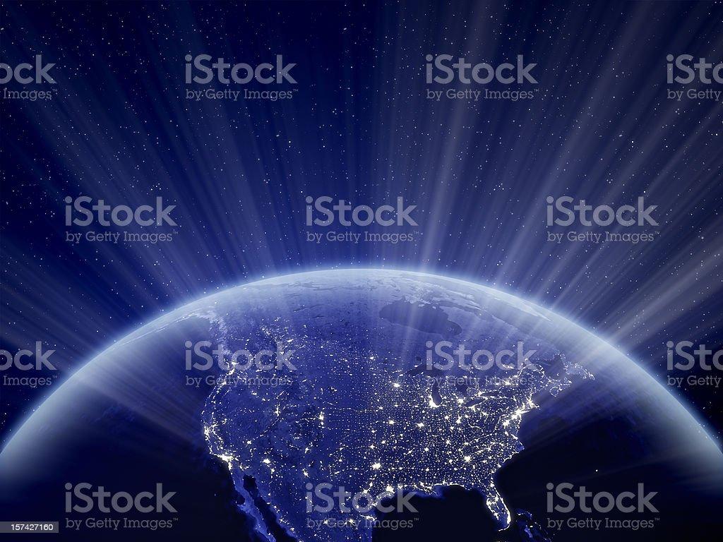 World at Night - North America stock photo