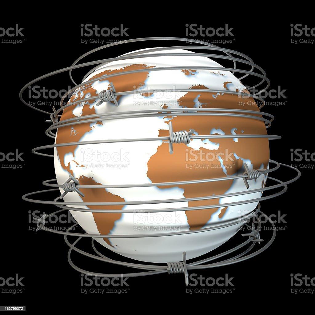 World at war royalty-free stock photo