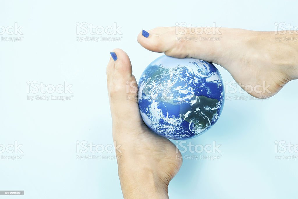 World at Your Feet stock photo