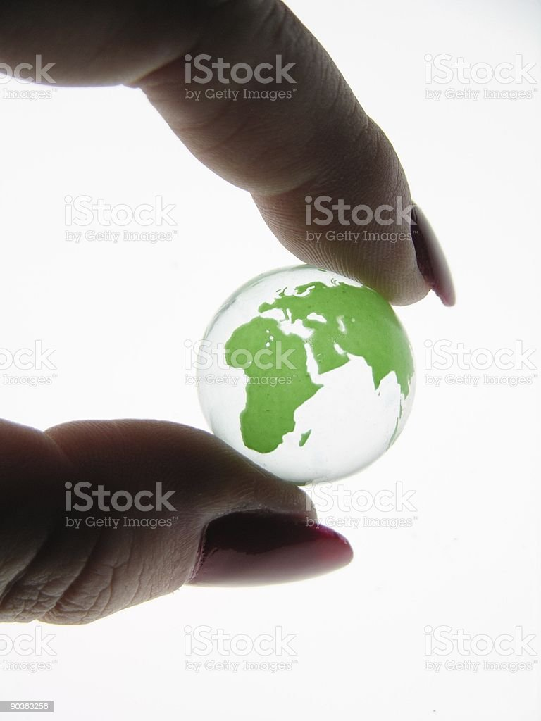 World at Your Fingertips royalty-free stock photo