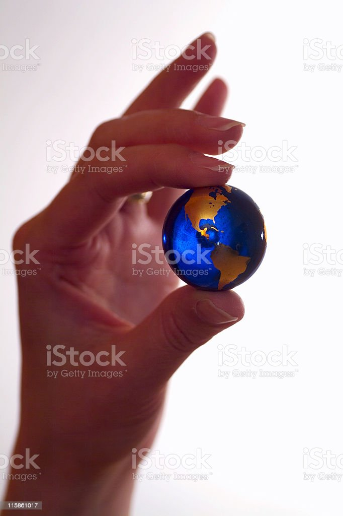 World at your fingertips,America stock photo
