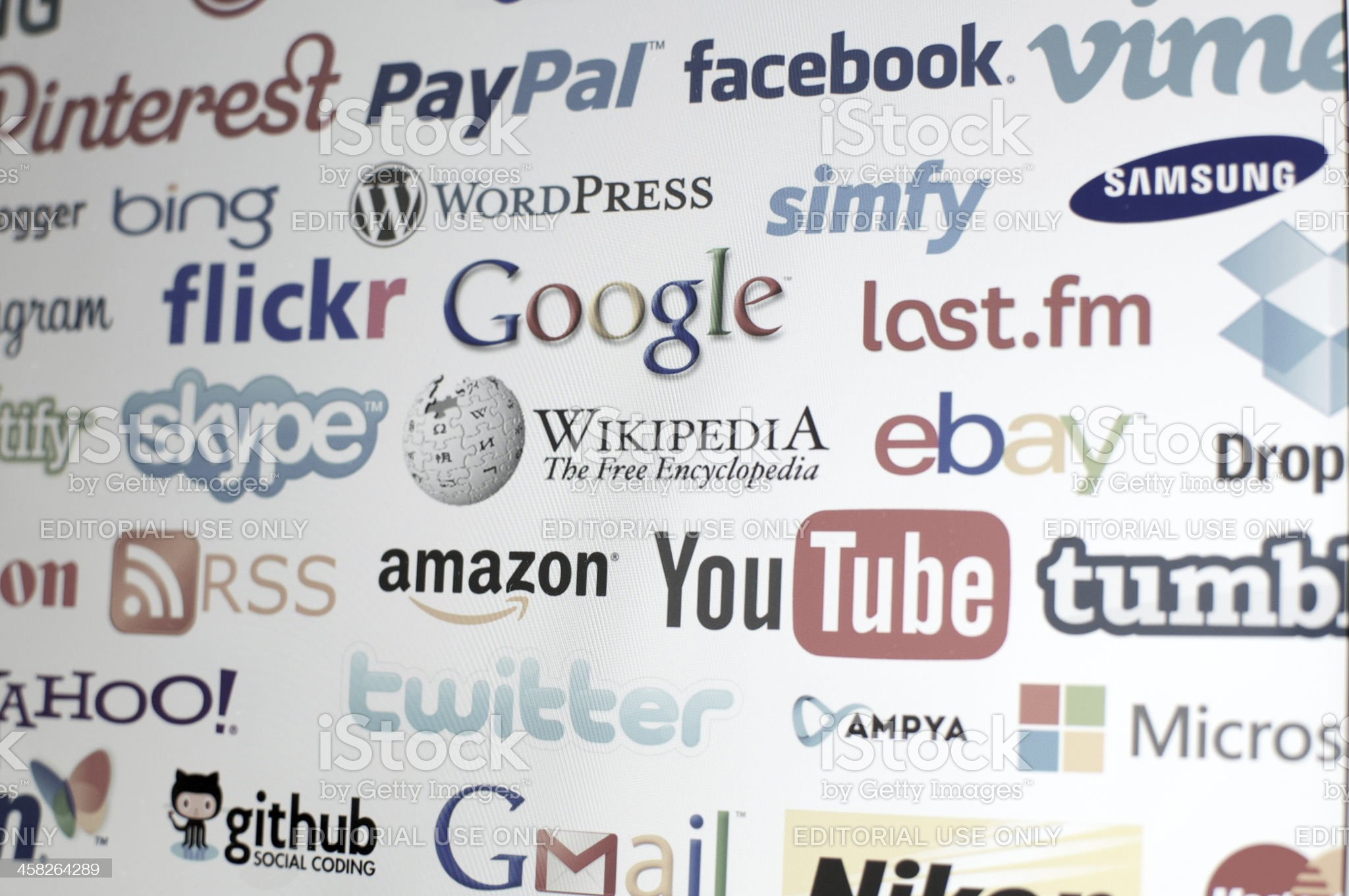 world brands of the internet royalty-free stock photo