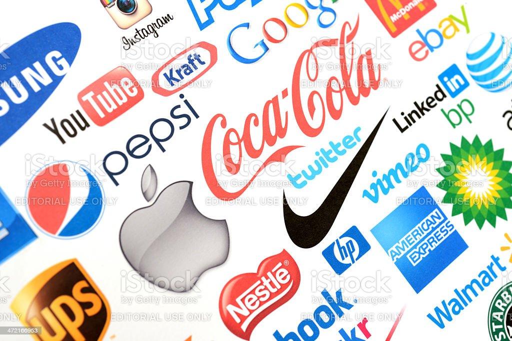 World brands stock photo