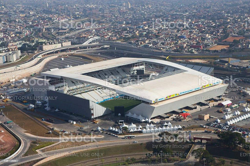 World Brazil Cup Stadium Football 2014 stock photo