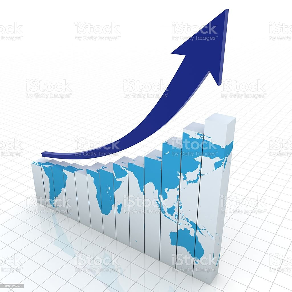 World Business Graph royalty-free stock photo
