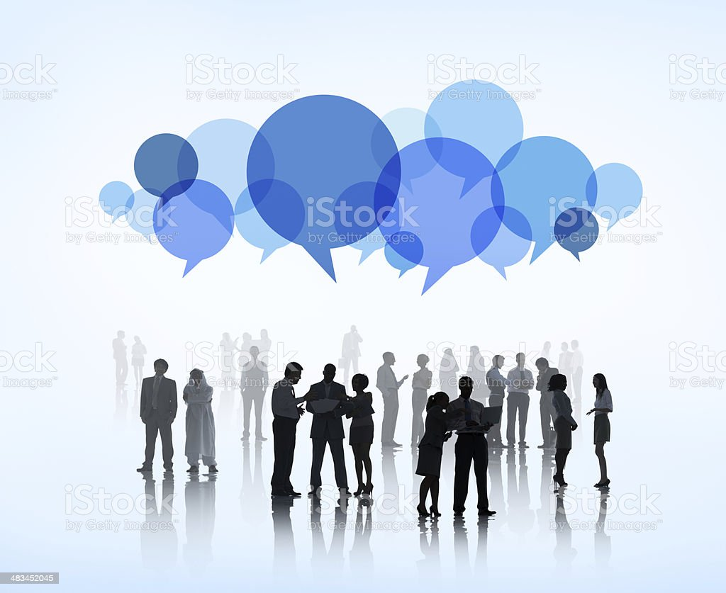 World Business People Sharing Ideas stock photo