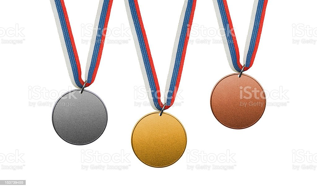 World championship medals stock photo