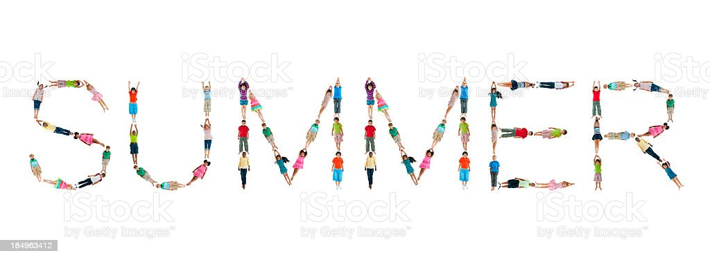 World Children Words. Summer. royalty-free stock photo