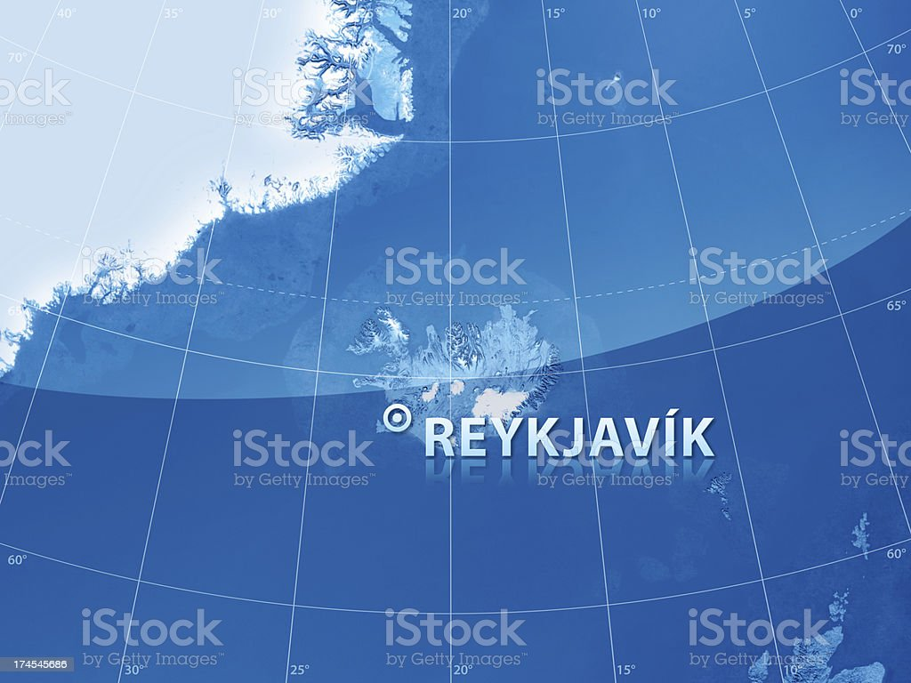 World City Reykjavik stock photo