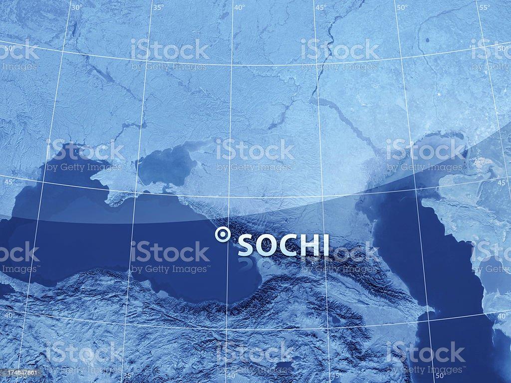 World City Sochi royalty-free stock photo