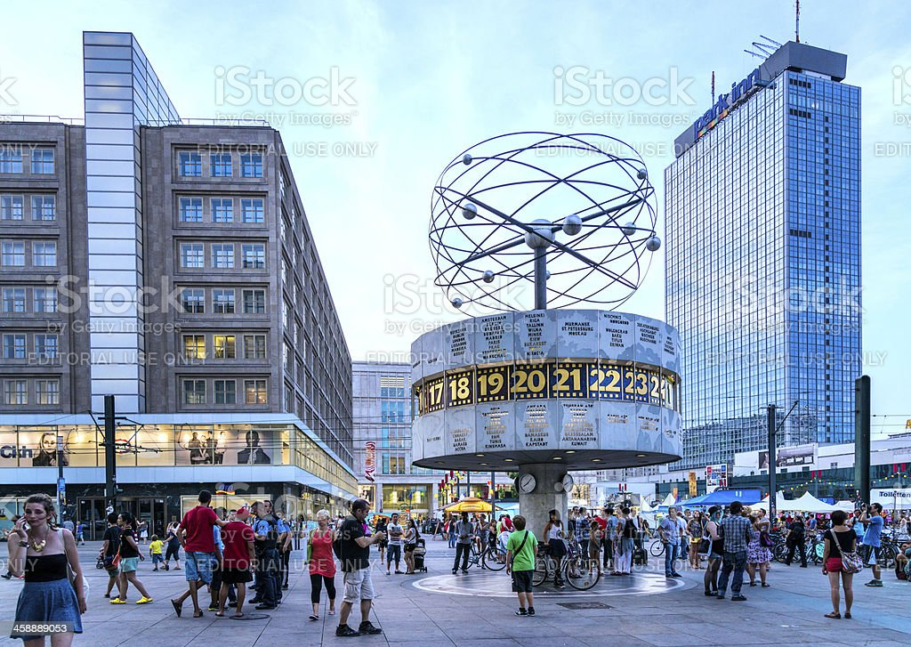 World Clock - Alexanderplatz, Berlin stock photo