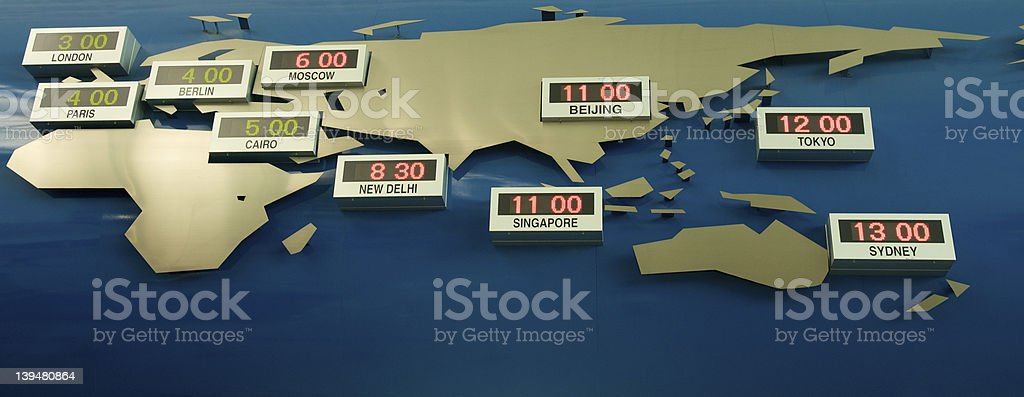 World Clock royalty-free stock photo