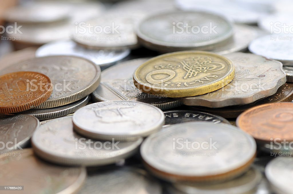 world coins royalty-free stock photo
