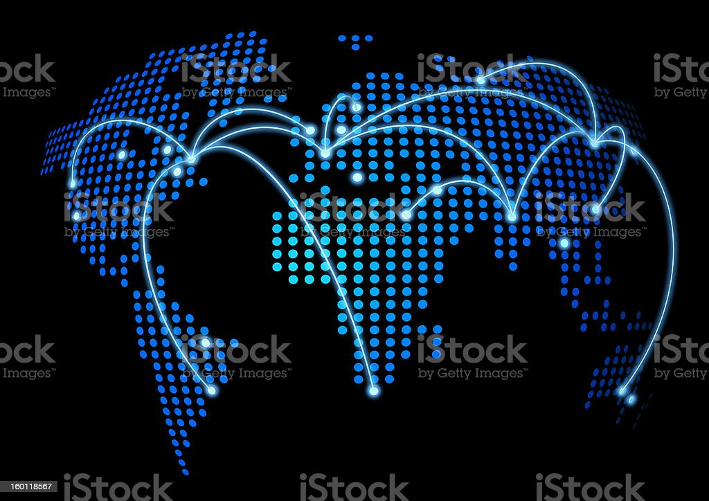 World connected royalty-free stock photo