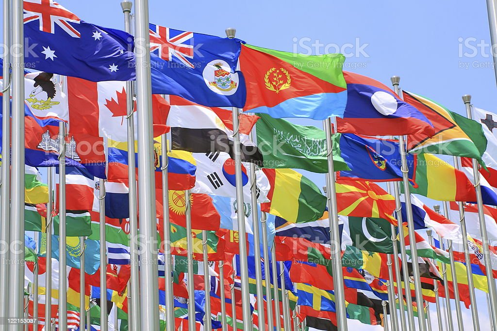 World countries flags collection royalty-free stock photo