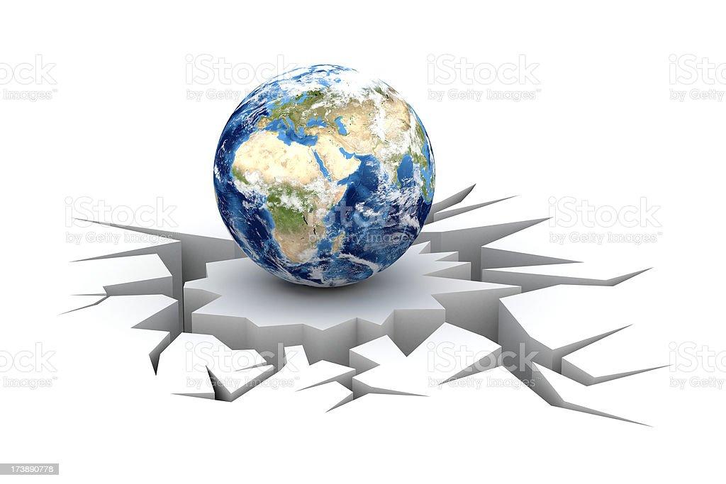 World crisis. Europe view. stock photo