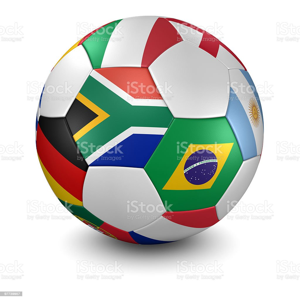 world cup 2010 soccer ball - clipping path royalty-free stock photo