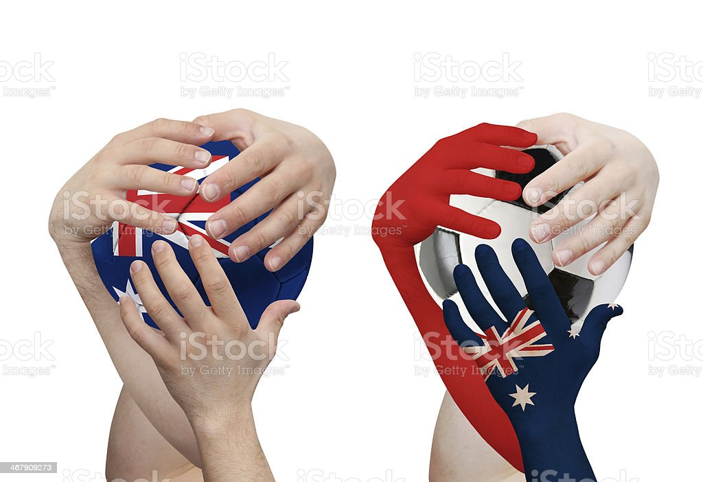 World cup Brazil 2014 - Australia royalty-free stock photo