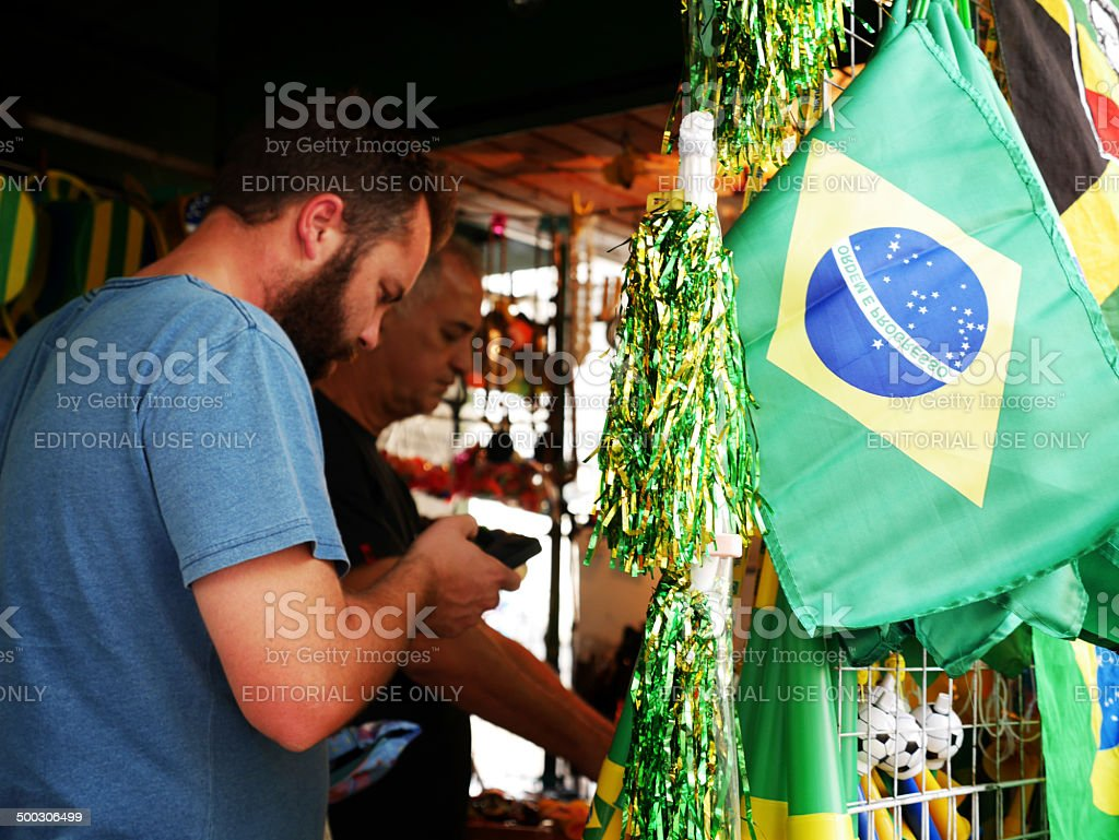 World Cup brazil merchandise stock photo